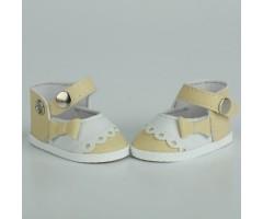PR64041 Туфли бежевые с белым