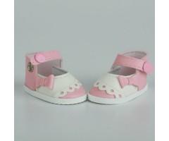 PR64042 Туфли розовые с белым