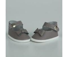 PR64046 Туфли с бантиком серые