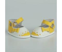 PR64047 Туфли желтые двухцветные