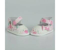 PR64048 Туфли в горох двухцветные розовые