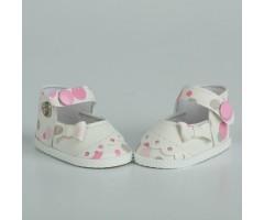 PR64049 Туфли в горох двуцветные белые