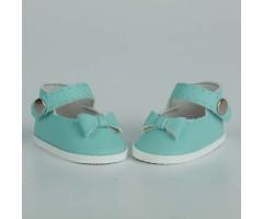 PR64056 Туфли с бантиком голубые