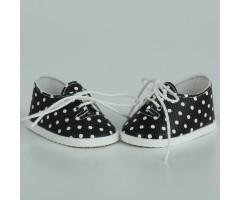 PR64058 Ботиночки черные в горох