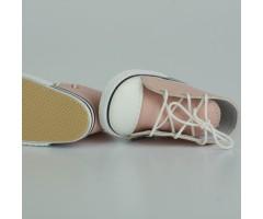 PR64065 Кеды бежево-розовые