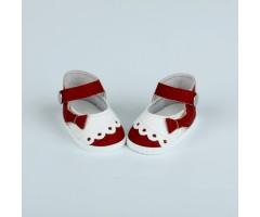 PR64070 Туфли темно-красные с белым