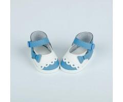 PR64071 Туфли бело-голубые