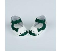 PR64072 Туфли зеленые с белым