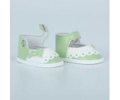 PR64086 Туфли салатовые с белым