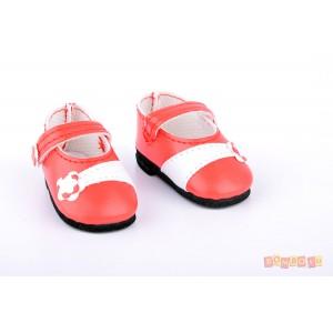«Туфли красные с цветочком для кукол 32 см» PR64559