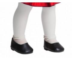 PR66082 Туфли черные для кукол 40-42 см