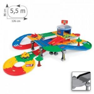 «Kid Cars 3D - гараж с трассой (5,5 м)» WD53130